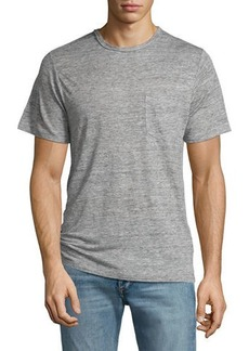 Rag & Bone Men's Owen Heather Linen Pocket T-Shirt