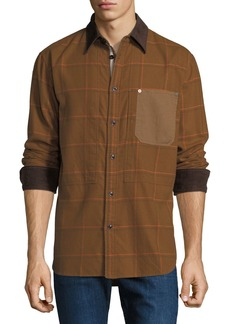 Rag & Bone Men's Plaid Chore Work Wear Shirt