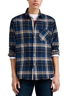Rag & Bone Men's Plaid Herringbone-Weave Cotton Button-Front Shirt