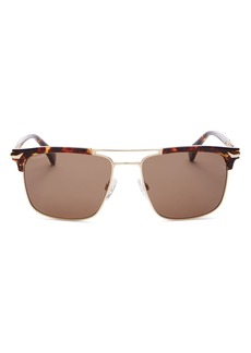 rag & bone Men's Polarized Brow Bar Square Sunglasses, 55MM