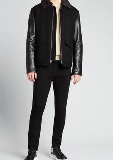 Rag & Bone Men's Schott Deck Jacket w/ Shearling Collar