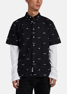 Rag & Bone Men's Smith Logo-Print Button-Down Shirt