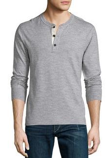 Rag & Bone Men's Standard Issue Basic Long-Sleeve Henley Shirt