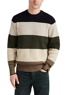 Rag & Bone Men's Striped Cotton-Blend Crewneck Sweater