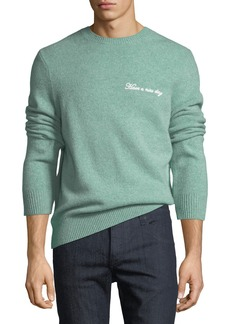 Rag & Bone Men's Victor Wool-Cashmere Nice Day Embroidered Sweater