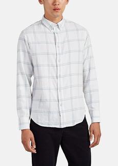 Rag & Bone Men's Windowpane-Plaid Cotton Flannel Shirt