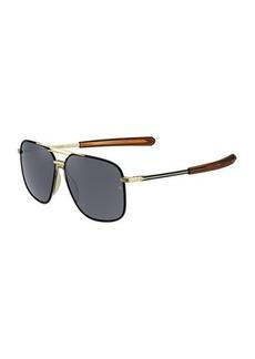 Rag & Bone Metal & Acetate Rounded Aviator-Style Sunglasses