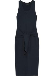 rag & bone Michelle tie-front ribbed cotton-blend midi dress