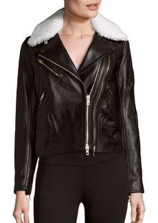 Rag & Bone Minerva Leather & Shearling Moto Jacket