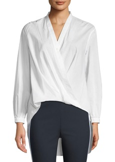 Rag & Bone Miranda Surplice Long-Sleeve Cotton Voile Blouse