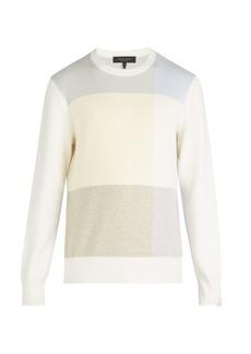 Rag & Bone Mitch jacquard-knit cotton blend sweater