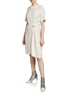 Rag & Bone MItchell Pinstripe Grommet Tee Dress