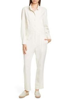 rag & bone Morris Long Sleeve Cotton Jumpsuit