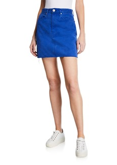 Rag & Bone Moss Denim Mini Skirt with Pockets