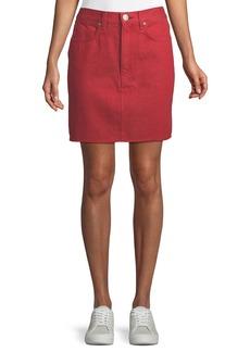 Rag & Bone Moss High-Rise Straight Denim Skirt