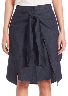 Rag & Bone Nadine Denim Tie-Front Skirt