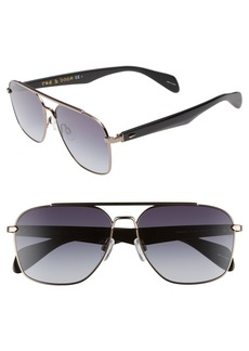 rag & bone Navigator 60mm Aviator Sunglasses