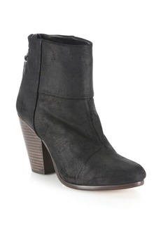 Rag & Bone Newbury Waxed Suede Booties