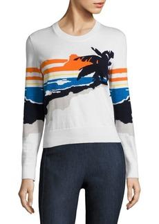 Rag & Bone Nicki Palm Intarsia Pullover