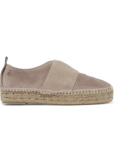 rag & bone Nina canvas and suede platform espadrilles