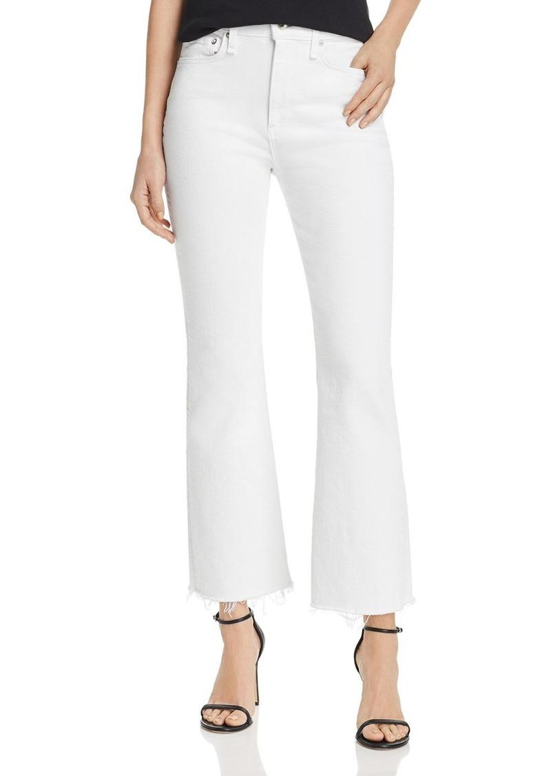 rag & bone Nina Cropped Flared Jeans in White