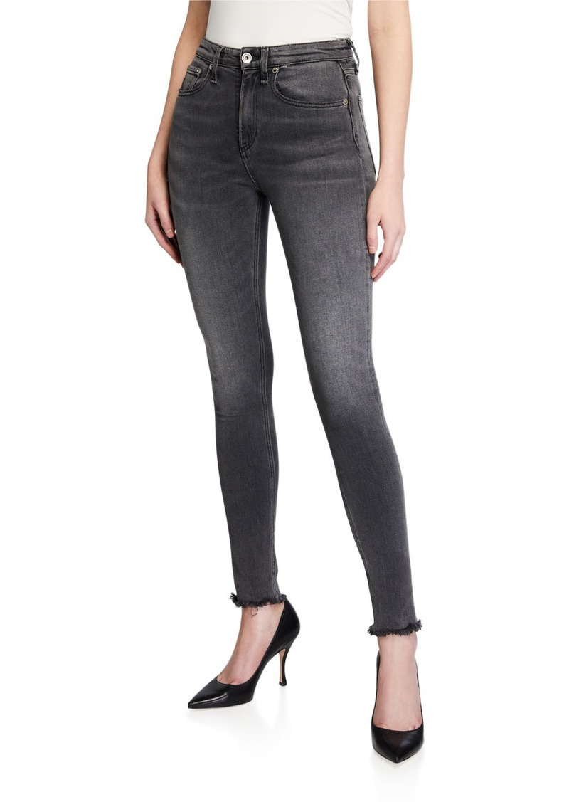 Rag & Bone Nina Faded High-Rise Skinny Ankle Jeans