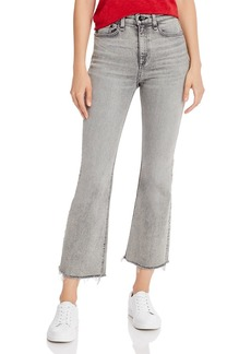 rag & bone Nina High-Rise Ankle Flare Jeans in Broderick
