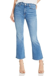rag & bone Nina High-Rise Ankle Flare Jeans in Gravel