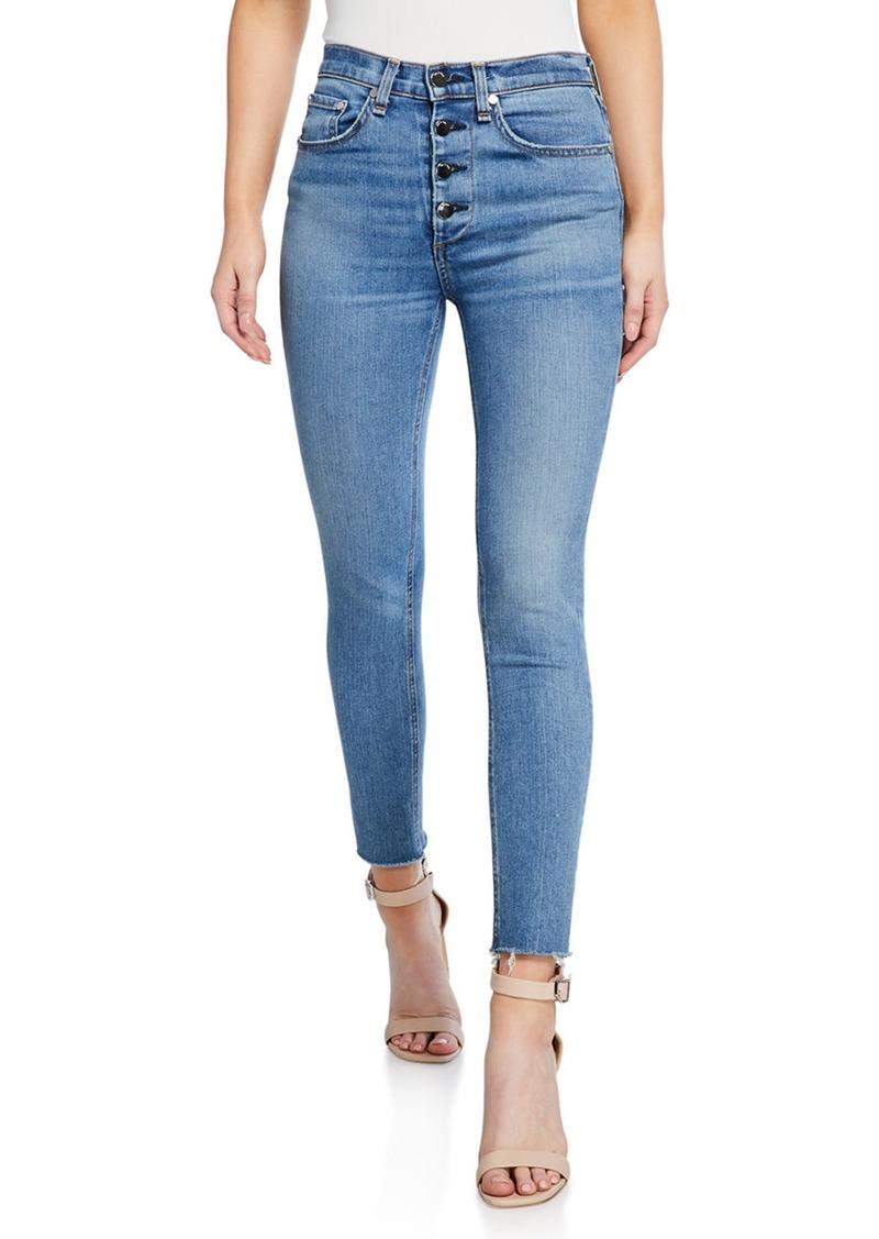 Rag & Bone Nina High-Rise Ankle Skinny Fray Jeans