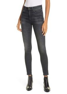 rag & bone Nina High Rise Ankle Skinny Jeans (Royal Oak)