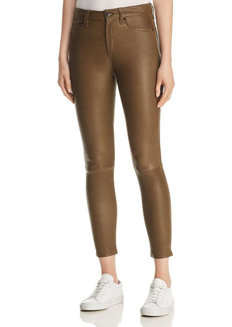 rag & bone Nina High-Rise Ankle Skinny Leather Pants