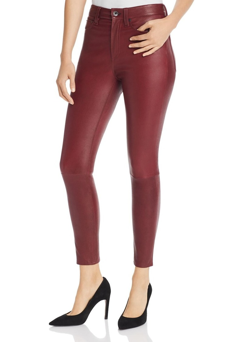 rag & bone Nina High-Rise Ankle Skinny Leather Pants