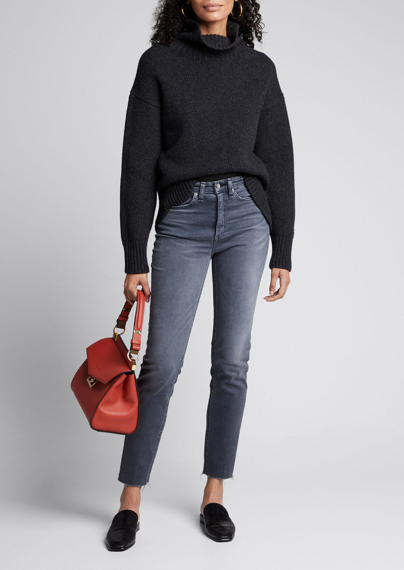 Rag & Bone Nina High-Rise Cigarette Cropped Jeans