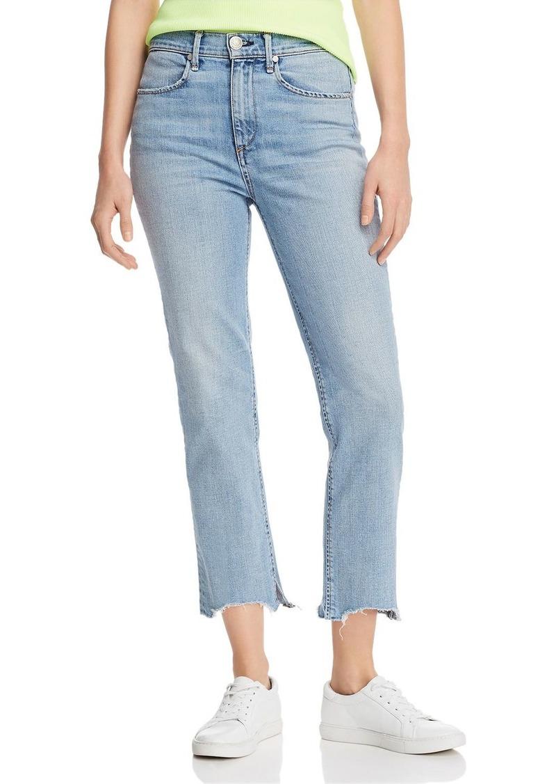 rag & bone Nina High-Rise Ankle Cigarette Jeans in Lapis