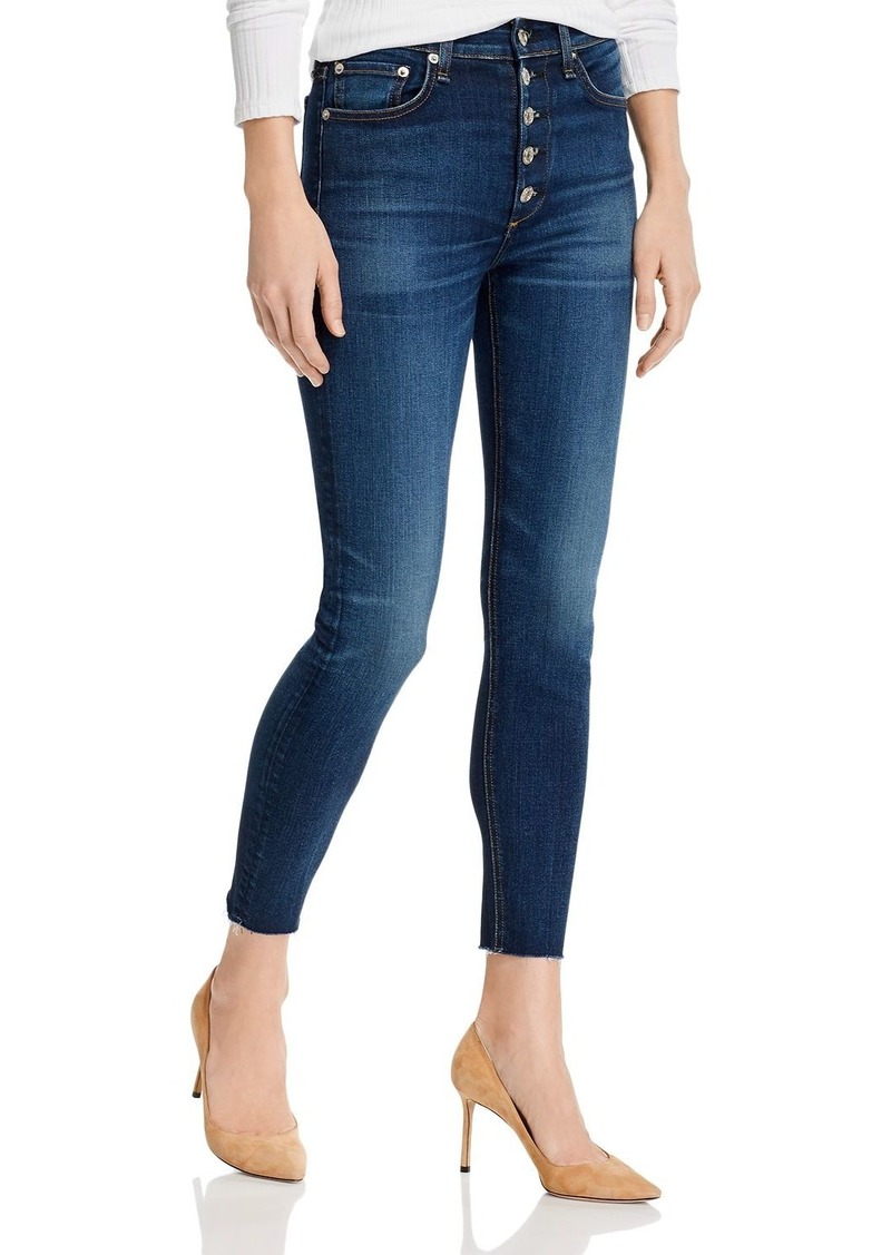 rag & bone Nina High-Rise Skinny Ankle Jeans in Atlantic