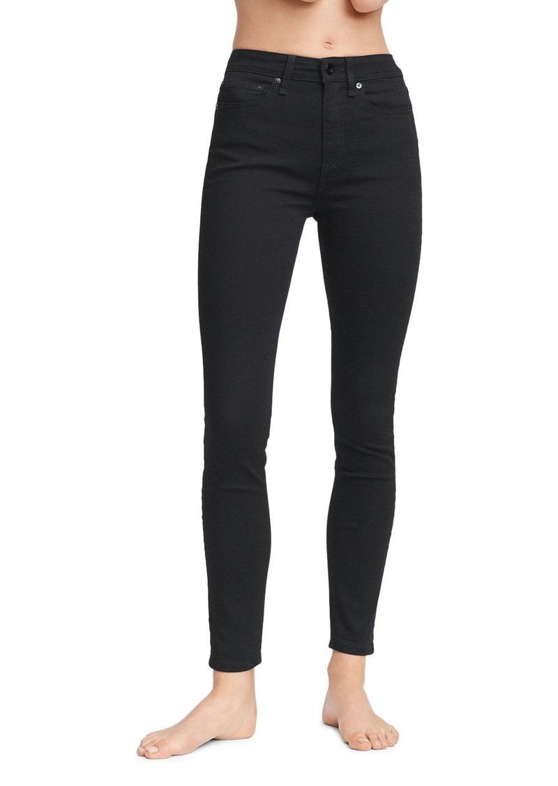 rag & bone Nina High-Rise Skinny Jeans in No Fade Black