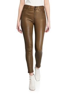 Rag & Bone Nina High-Rise Skinny Leather Ankle Pants
