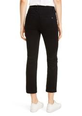 rag & bone Nina High Waist Ankle Cigarette Jeans (No Fade Black)