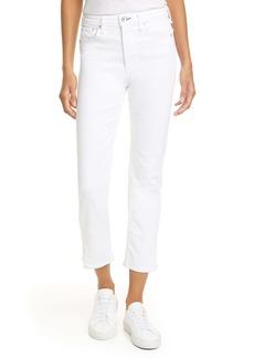rag & bone Nina High Waist Ankle Cigarette Jeans (Optic White)