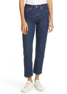 rag & bone Nina High Waist Ankle Cigarette Jeans (Perfect Indigo)