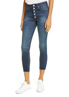 rag & bone Nina High Waist Ankle Skinny Jeans (Atlantic)