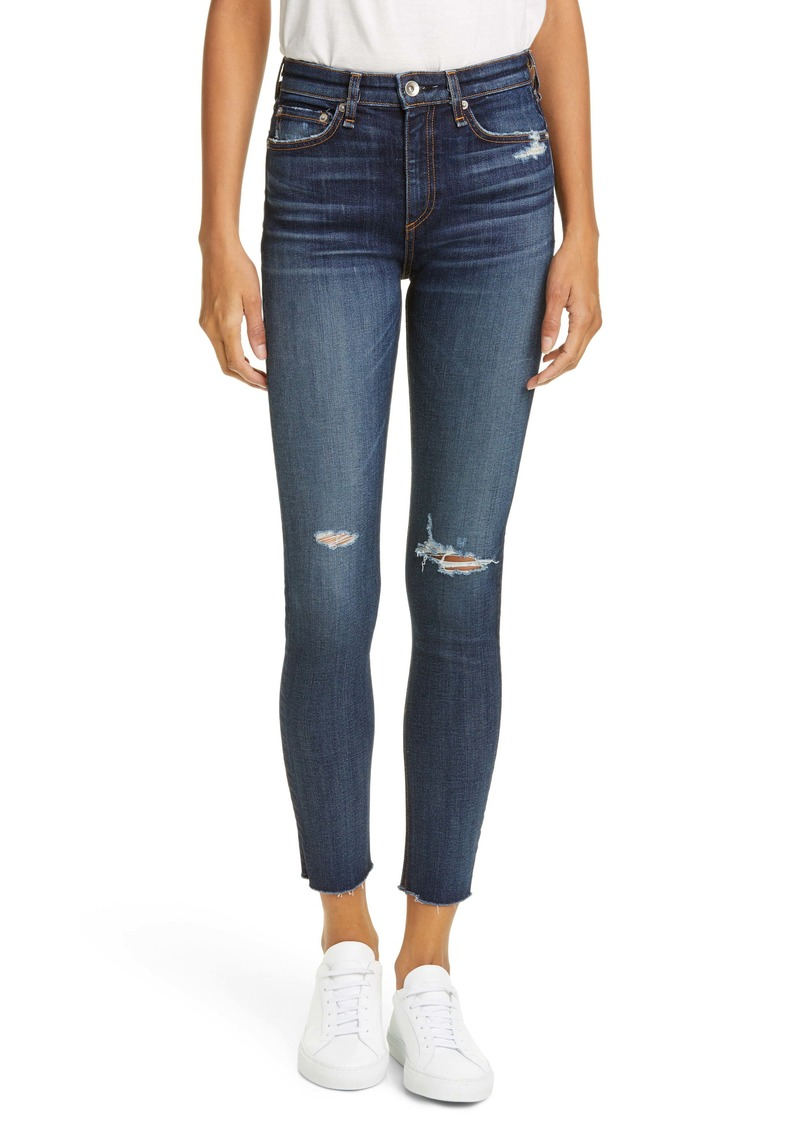 rag & bone Nina High Waist Ankle Skinny Jeans (Franklin)
