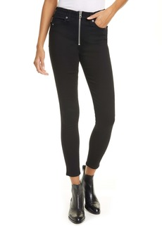rag & bone Nina High Waist Ankle Skinny Jeans (No Fade)