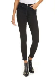 rag & bone Nina High Waist Ankle Skinny Jeans (No Fade)