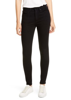 rag & bone Nina High Waist Ankle Skinny Jeans (No Fade Black)