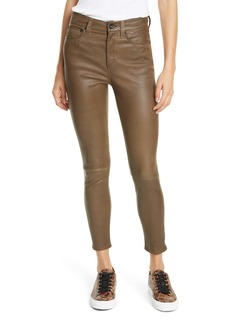 rag & bone Nina High Waist Ankle Skinny Leather Pants