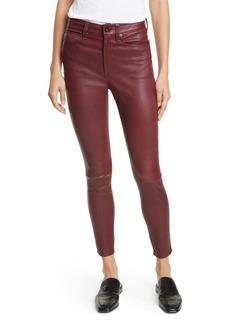 rag & bone Nina High Waist Ankle Skinny Leather Pants