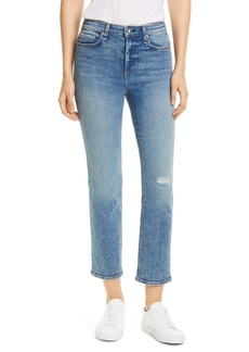 rag & bone Nina High Waist Ankle Straight Leg Jeans (Cleo)