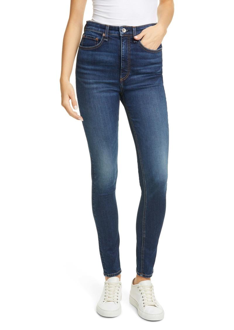 rag & bone Nina High Waist Cigarette Jeans (Carla)