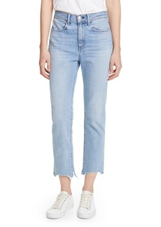 rag & bone Nina High Waist Crop Cigarette Jeans (Lapis)